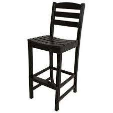 bar height patio chair: la casa cafe black patio bar side chair
