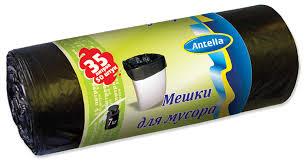 """<b>Мешки для мусора</b> """"<b>Antella</b>"""", цвет: черный, 6 мкм, 35 л, 50 шт"""
