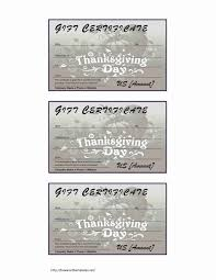 microsoft word templates part  thanksgiving gift certificate