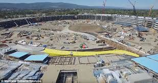 the massive apple showed off the progress of its massive apple campus 2 which was apple office