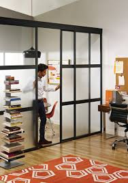 sliding glass room dividers in home office chicago home office