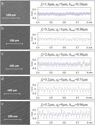 Optical images of the surface topographies and profiles of <b>fully</b> ...