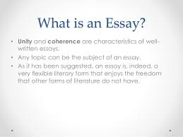 types essays types of essays