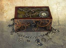 <b>Steampunk</b> treasure chest - jewellery box and bracelet, <b>steampunk</b> ...