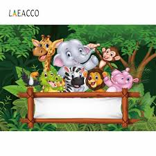 <b>Laeacco</b> Photography Backdrops <b>Dinosaur</b> Baby <b>Cartoon Jungle</b> ...
