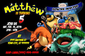 designs pokemon birthday invitations pokemon birthday party invitations printable