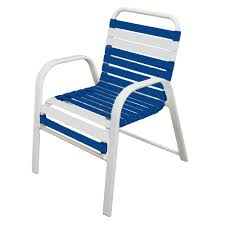 patio furniture vinyl straps marco island white commercial grade aluminum patio dining chair with w