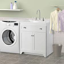 Laundry Cabinets Home Depot Foremost Keats 30 In Laundry Vanity In White And Premium Acrylic