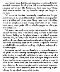 essay reading cell phones have some benefits but they increase car accidents  cell phones