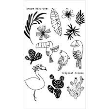 Flora and Fauna TROPICAL VIBES <b>Clear Stamps</b> 20178   Tropical ...