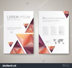 modern abstract brochure flyer report design stock vector modern abstract brochure flyer report design layout template clean style cover