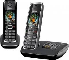 <b>радиотелефон Gigaset</b> C530 AM DUO RUS <b>BLACK</b>