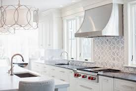 Fine Ann Sacks Glass Tile Backsplash With Brushed Nickel Cabinet Pulls Alongside Gray For Design Ideas