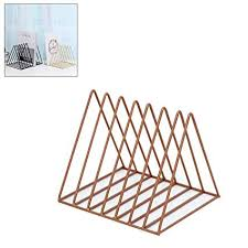 Nordic Wrought Iron Bookcase, <b>Creative Style Triangle</b> Book Stand ...
