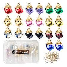 ONVWULR 20Pcs 1 Box Cubic Crystal Charms 10 ... - Amazon.com