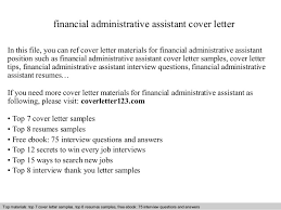 financial administrative assistant cover letter in this file you can ref cover letter materials for executive assistant cover letter