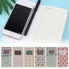 <b>Portable Mini Diary Notebook</b> Paper Journal Travel Planner ...