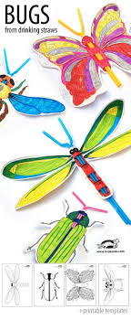 best ideas about printable templates daily great craft project for kids printable templates to make insects drinking straws