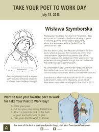 take your poet to work wis awa szymborska take your poet to work wis322awa szymborska