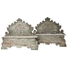 18th Century, Pair of <b>Baroque</b> Cassapanche Wooden <b>Storage</b> ...