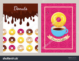 set vector design template coffee donuts stock vector 328881863 set of vector design template coffee and donuts pattern seamless fast food background