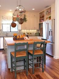 rustic kitchen island:  large image kitchen rustic island stools vintage frosted glass pendant lights green tiled backsplash white wood