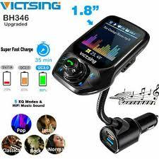 "VicTsing 1.8"" Bluetooth <b>5.0 Car</b> FM Transmitter Radio <b>QC 3.0</b> Quick ..."