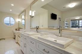 built bathroom vanity design ideas: double  bathroom mirror frames with cabinet double