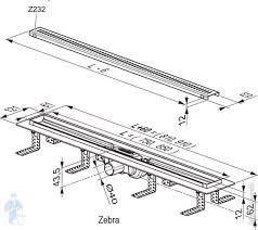 <b>Душевой канал</b> RAVAK Zebra <b>850</b> с решеткой <b>850х61мм</b>, с ...