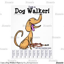 printable dog walking flyers