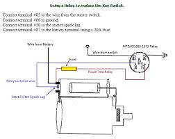 starter wiring diagram starter wiring diagram using relay replace key switch