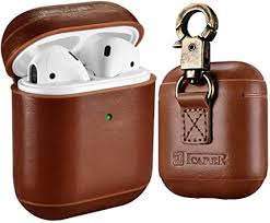 AirPods Leather Case, ICARER Genuine Leather ... - Amazon.com