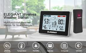 ELEGIANT Wireless Weather Station, Indoor Outdoor <b>Thermometer</b>