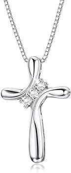 FUNRUN JEWELRY 925 Sterling Silver Cross ... - Amazon.com
