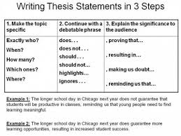 essay with thesis statement Table    Relating the Thesis Statement to a Writing Strategy What will be the appropriate thesis
