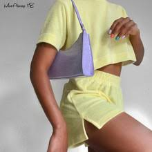 Mnealways18 модный бархатный желтый повседневный ...