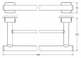 <b>Полотенцедержатель FBS</b> Esperado ESP 038 <b>70 см</b> — купить по ...