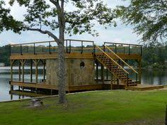 images about Lake House on Pinterest   Boat Dock  Boat House     Story  BoatDock   upper deck and stone room