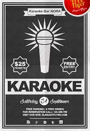 karaoke flyer psd templates for photoshop karaoke night flyer psd template