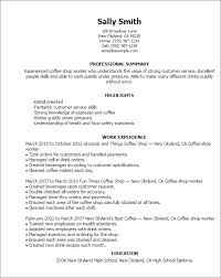 professional coffee shop worker templates to showcase your talent    resume templates  coffee shop worker