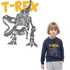 cool T REX <b>dinosaur iron on</b> patches for clothing thermal stickers for ...