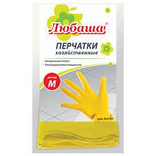 Купить Перчатки <b>хозяйственные</b> латексные <b>ЛЮБАША</b> ЭКОНОМ ...