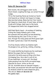 wilfred owen info and differentiated worksheets by    dulce et decorum est doc