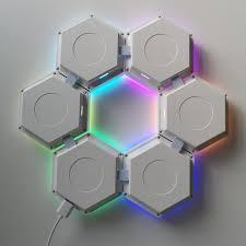2020 New Magnetic <b>Hexagon</b> Creative <b>Rgb</b> Led Nanoleaf Aurora ...
