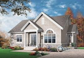 House plan W detail from DrummondHousePlans com    cathedral ceiling  middot  front   ORIGINAL MODEL Bright  bedroom  single storey Small Craftsman house plan