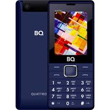 <b>Мобильный телефон BQ</b> 2412 Quattro, цена. Цвет синий