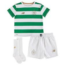 New Balance <b>Celtic FC</b> 2017/18 Children 's <b>Home Kit</b>, White ...
