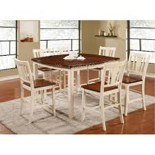 cherry counter height piece:  piece counter height dining set transitional dover white and cherry