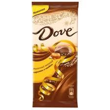 «<b>Шоколад DOVE</b> молочный Карамель-миндаль, <b>90</b> гр ...