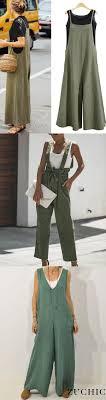 <b>Hot Sale</b>>><b>Women</b> Casual Pure Color Loose <b>Linen</b> Tank Jumpsuit ...